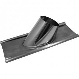 Rookkanaal RVS, loodslab 45° - 60° graden, 80/130mm