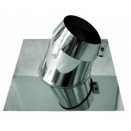 Enkelwandig rookkanaal RVS, 5°-20° dakplaat hellend, diameter Ø250