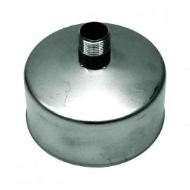 Enkelwandig rookkanaal RVS, Deksel/condensafvoer, diameter Ø150