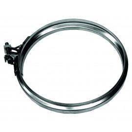 Enkelwandig rookkanaal RVS, Klemband, diameter Ø180