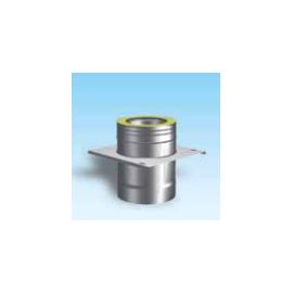 Dubbelwandig rookkanaal RVS, Topaansluiting, diameter Ø300-350mm