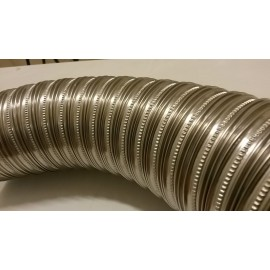 Flexibel enkelwandig rookkanaal, diameter Ø80, 1000mm pijp