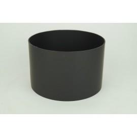 Kachelpijp dikwandig staal, diameter Ø130, verbindingsstuk vrouwelijk