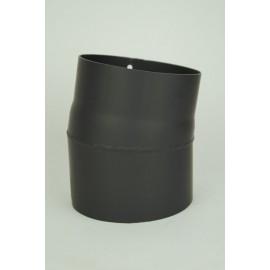 Kachelpijp dikwandig staal, diameter Ø120, 10° bocht