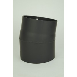Kachelpijp dikwandig staal, diameter Ø150, 10° bocht