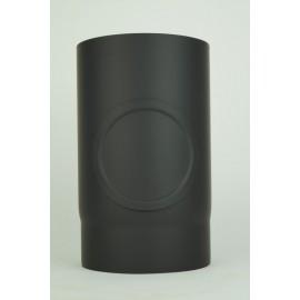 Kachelpijp dikwandig staal, diameter Ø140, 250mm pijp, met inspectieluik