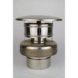 Concentrisch rookkanaal RVS, diameter Ø130-200, eindkap