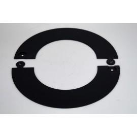 Rozet deelbaar zwart, diameter Ø100