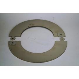RVS rozet deelbaar, diameter Ø130
