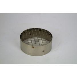RVS aanzuigrooster voor pelletkachel, diameter Ø100