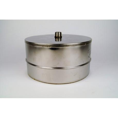 Rookkanaal RVS, Deksel/condensafvoer, diameter Ø250-300