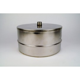 Dubbelwandig rookkanaal RVS, Deksel/condensafvoer, diameter Ø130-180