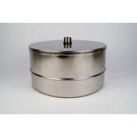 Dubbelwandig rookkanaal RVS, Deksel/condensafvoer, diameter Ø80-130