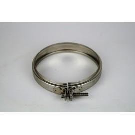 Rookkanaal RVS, Klemband, diameter Ø100-150