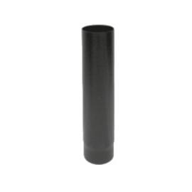 Kachelpijp zwart geëmailleerd staal, diameter Ø140, 1000mm pijp
