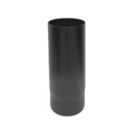 Kachelpijp zwart geëmailleerd staal, diameter Ø130, 500mm pijp