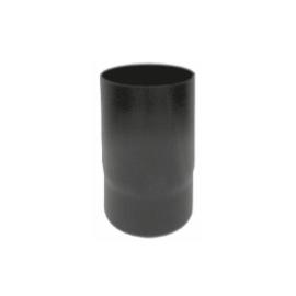 Kachelpijp zwart geëmailleerd staal, diameter Ø140, 250mm pijp
