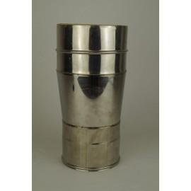 Dubbelwandig rookkanaal RVS, verloopstuk dubbelwandig, diameter Ø400-450
