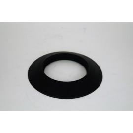 Rozet siliconen zwart, diameter Ø130