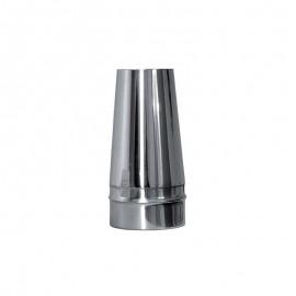 Conische open kap t.b.v. enkelwandig rookkanaal Ø110mm
