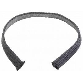 Kachelpijp zwart RVS, Pakking van Textiel, diameter Ø130