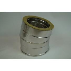 Dubbelwandig geïsoleerd rookkanaal, bocht 5° graden, diameter Ø100/150