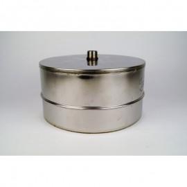 Dubbelwandig rookkanaal RVS, Deksel/condensafvoer, diameter Ø160-210