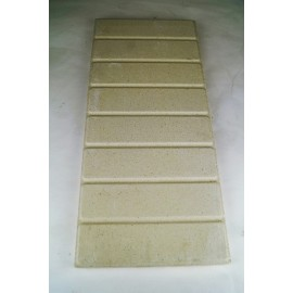 Vuurvaste plaat 500x220x28mm (steen effect)