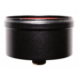 Condensatie cap zwart met afvoer, diameter Ø80mm.