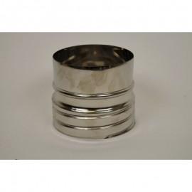 Flexibel rookkanaal, verbindingsstuk FLEX-EW Ø125 mm (mannelijk)