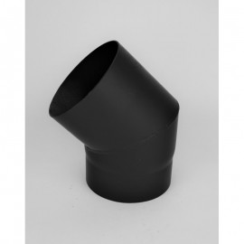 Kachelpijp dikwandig staal, diameter Ø160, 45° bocht