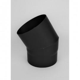 Kachelpijp dikwandig staal, diameter Ø180, 10° bocht