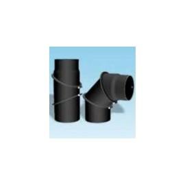Kachelpijp dikwandig staal, diameter Ø140, bocht verstelbaar tot 90°