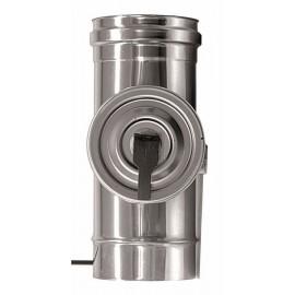 Rookkanaal RVS, met inspectie element, diameter Ø100, 280mm pijp